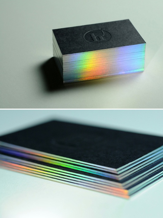 The holographic trend the architectonista perfect example of how impressive and eye catching holography can be when used creatively are these business cards that were designed by reheart Images